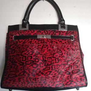 White House Black Market Red Leopard Purse